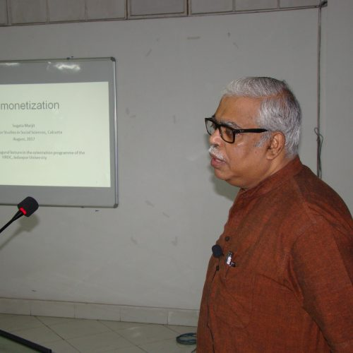 Prof. Sugata Marjit, delivering lecture at 66th OP